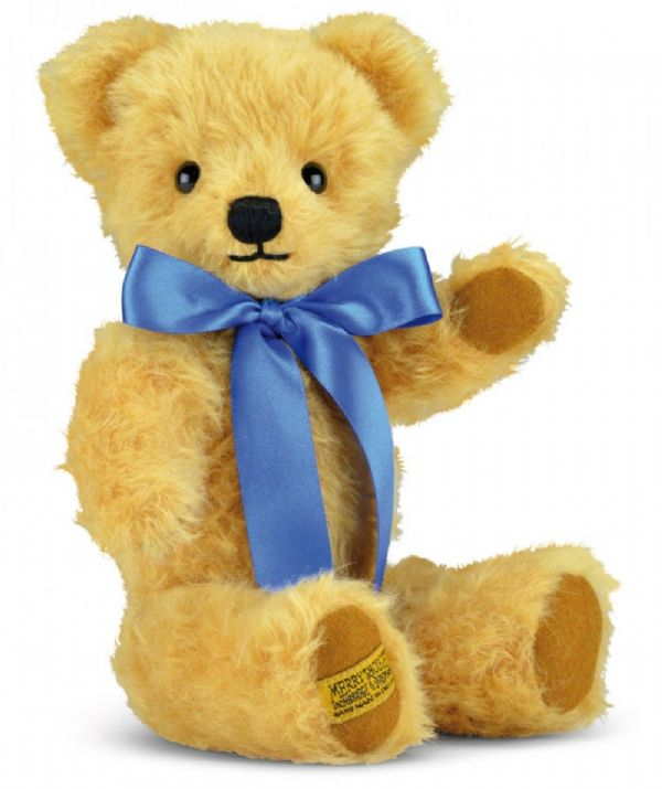 "Merrythought,  10"" London Curly Gold Traditional Teddy Bear. GM10CG. Free UK Delivery."
